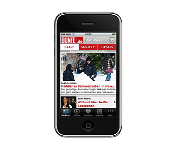 Bunte iPhone App, YOC AG